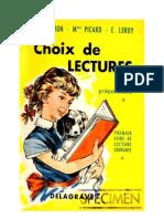 Langue Française Lecture Courante CP Choix de Lecture Pouron Picard Leroy