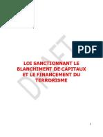 Loi Sanctionnant le Blanchiment de Capitaux et le Financement du Terrorisme