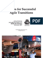 10 Tips for Successful Agile Transitions