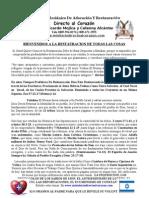 1-Conozca La Restauracion Hechos Cap 3-19-21 Completa 2011