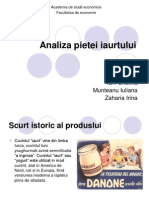 Analiza pietei iaurtului