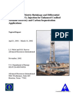 Modeling Coal Matrix Shrinkage and Differential Swelling with CO2 Injection for Enhanced Coalbed