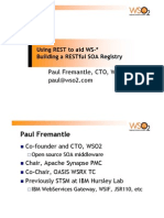 Using REST to aid WS-* - building a RESTful SOA Registry