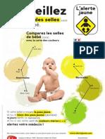 Alerte Jaune - Affiche de la campagne nationale de dépistage des maladies du foie chez les bébés