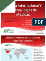 Sistema Internacional Y Sistema Ingles de Medidas