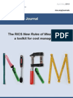 RICS Journal Construction Apr May 2012