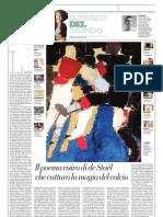 IL MUSEO DEL MONDO 14 - Footballeurs di Nicolas de Staël (1952) - La Repubblica 31.03.2013
