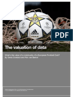 The valuation of data - What's the value of a community of a European Football Club?