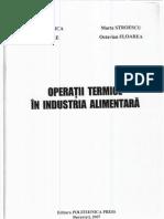Operatii Termice in Industria Alimentara