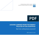6. Lesson Learned From the Energy Policies of IEA Countries