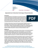 Appropriate Use of Instructional Technology in PE 2009 2