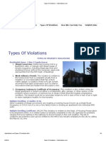 Types of Code Violations - City Violations