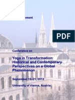 Announcement Yoga Conference