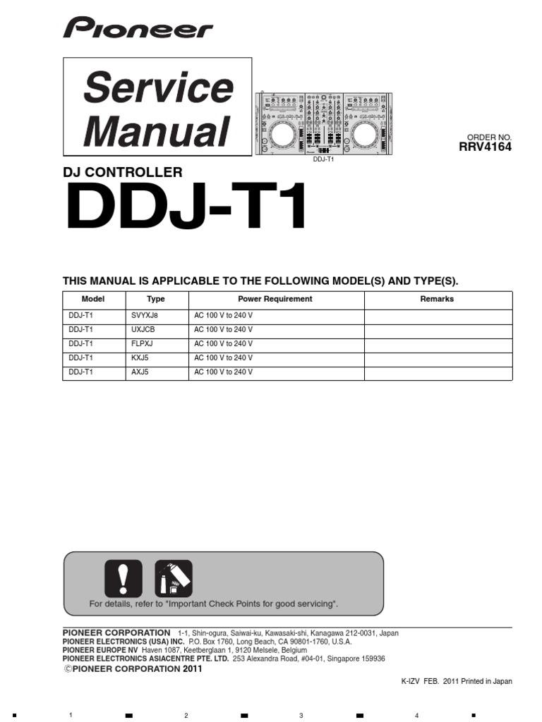 Pioneer DDJ-T1 | Soldering | Electrical Connector