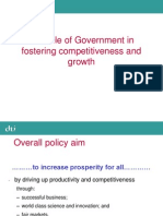 Govt. Policies & Competitiveness