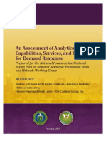 An Assessment of Analytical Capabilities, Services, and Tools for Demand Response