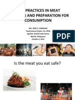 Safe Practices in Meat Handling and Preparation