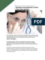 Thérapie génique contre la leucémie