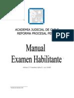 Examen Habilitante de Garantia y Juicio Oral en Lo Penal