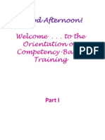 10 Principles of CBT - TM I Orientation