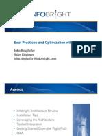 Infobright Best Practices