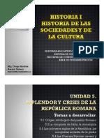 Unidad 5 Esplendor y crisis de la República Romana
