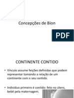 Concepções de Bion
