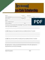 CORE Scholarship - Application Form