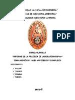 HIDRÓLISIS SALES ANFOTEROS Y COMPLEJOS