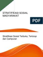 STRATIFIKASI SOSIAL MASYARAKAT