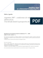 Argentina 2007 Condiciones Vida Ninez