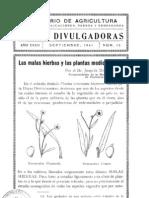 Las Malas Hierbas y Las Plantas Medicinales - 1941
