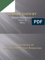 Seminar Given By
