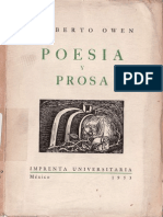 Gilberto Owen Poesia y Prosa 1953 Edicion Procopio(Cut)