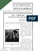 La Linaza , Cultivo Del Lino Para Grano - Nov 1941