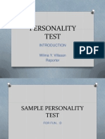 Personality Test (Introduction)