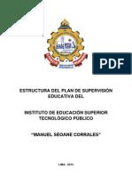 Estructura Plan Supervision Educativa Instituto Educacion Superior Tecnologico Publico