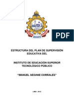 Estructura Plan Supervision Educativa Instituto Educacion Superior Tecnologico Publico