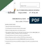 IBO 2010 Korea Theory Paper 2