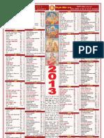 Bhasker Panchang Calendar 2013