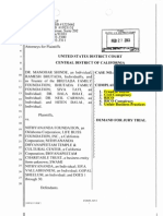 New Complaint of FRAUD and RACKETEERING against Nithyananda in USA - Feb 2013