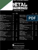 Heavy Methal Rhythm Guitar Volume 1