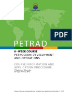 8-Weeks Petroleum Development and Operations Course Information and Application Procedure 2012