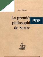 Alain Flajoliet La Premiere Philosophie de Sartre