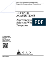 GAO DEFENSE ACQUISITIONS Assessments of Selected Weapon Programs