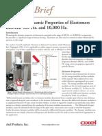 Measuring Dynamic Properties of Elastomers