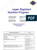 US Army Ranger Nutrition Program