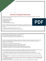 100 QUESTÕES SOBRE LEGISLAÇÃO EDUCACIONAL - OK