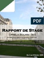 Rapport Ophelia Bolmin