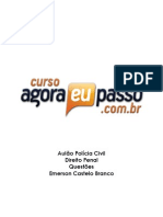 AEP AulaoPoliciaCivil CrimesContraoPatrimonio EmersonCasteloBranco